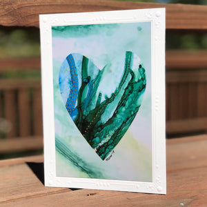 Heart Series Greeting Card - Mermaid Dreams