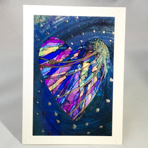Heart Series Greeting Card - Royal