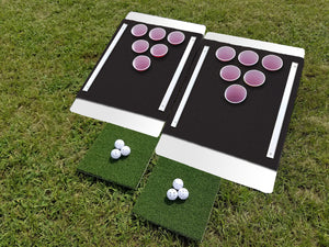 Beer Pong Golf: The Original Custom Tailgate Set - White / Black