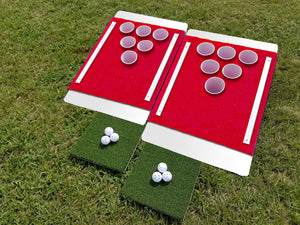 Beer Pong Golf: The Original Custom Tailgate Set - White / Red