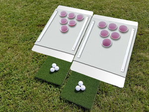 Beer Pong Golf: The Original Custom Tailgate Set - White / White