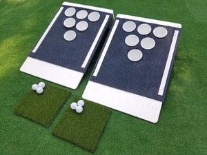 Beer Pong Golf: The Original Custom Tailgate Set - White / Blue