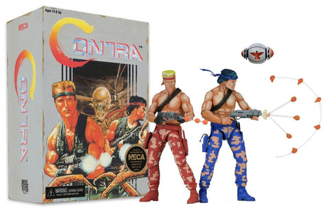 CONTRA BILL AND LANCE 2 PACK DELUXE ACTION FIGURE NECA
