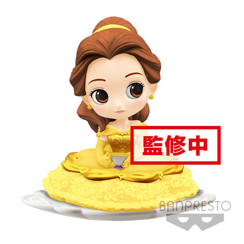 Preorder - Disney Q Posket SUGIRLY Mini Figure Belle A Normal Color Version 9 cm