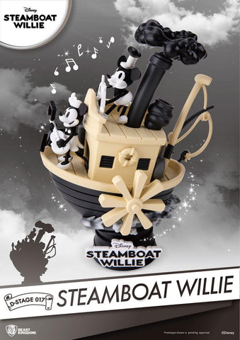 Steamboat Willie D-Stage PVC Diorama Mickey & Minnie