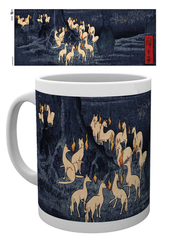 PREORDER - Japanese Art Mug New Years Eve Foxfire by Utagawa Hiroshige