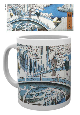 PREORDER - Japanese Art Mug The Drum Bridge by Utagawa Hiroshige