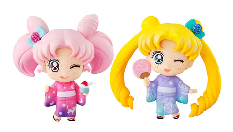 Preorder - Sailor Moon Petit Chara Mini Figure 2-Pack Sailor Moon & Chibiusa Kyotobeni Ver.
