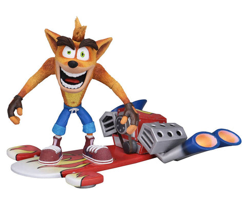 PREORDER CRASH BANDICOOT WITH HOVERBOARD ACTION FIGURES 14 CM NECA