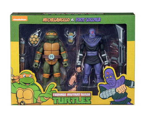 PREORDER - Teenage Mutant Ninja Turtles Action Figure 2-Pack Michelangelo vs Foot Soldier