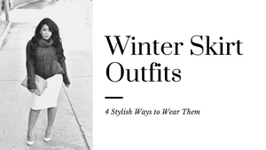 4 Stylish Winter Skirt Outfits