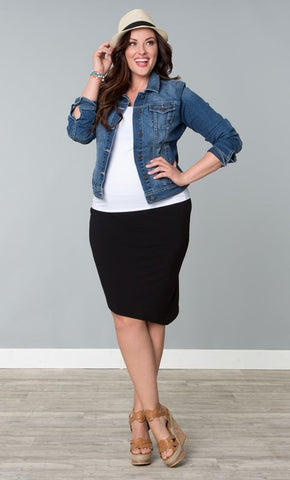 Jean Jacket and Pencil Skirt