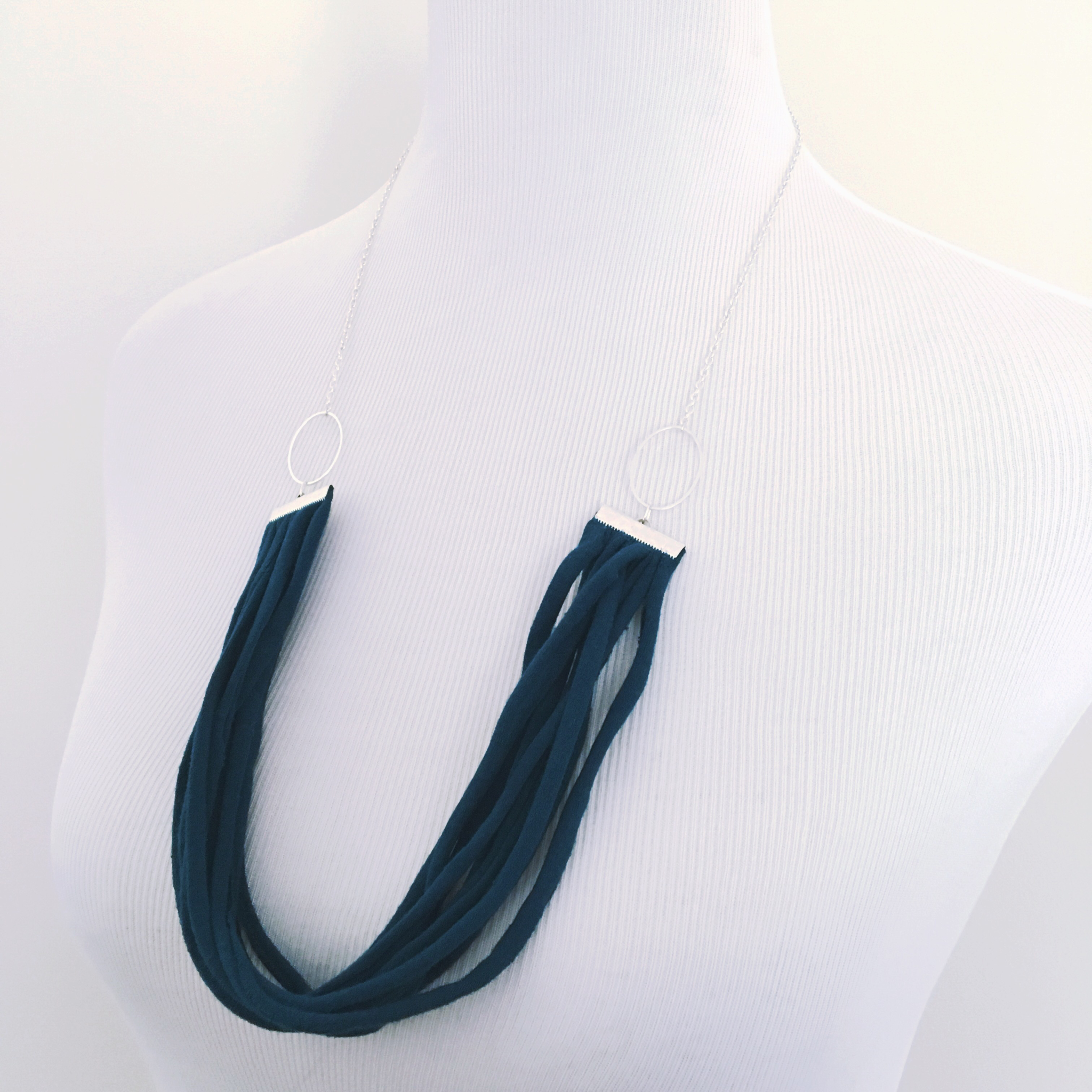 Necklace - Jersey Fringe (multiple colors available)