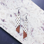 Katherine Leather Earrings - Gold Dots