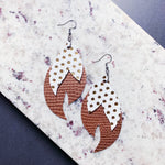 Josephine Leather Earrings - Gold Dots