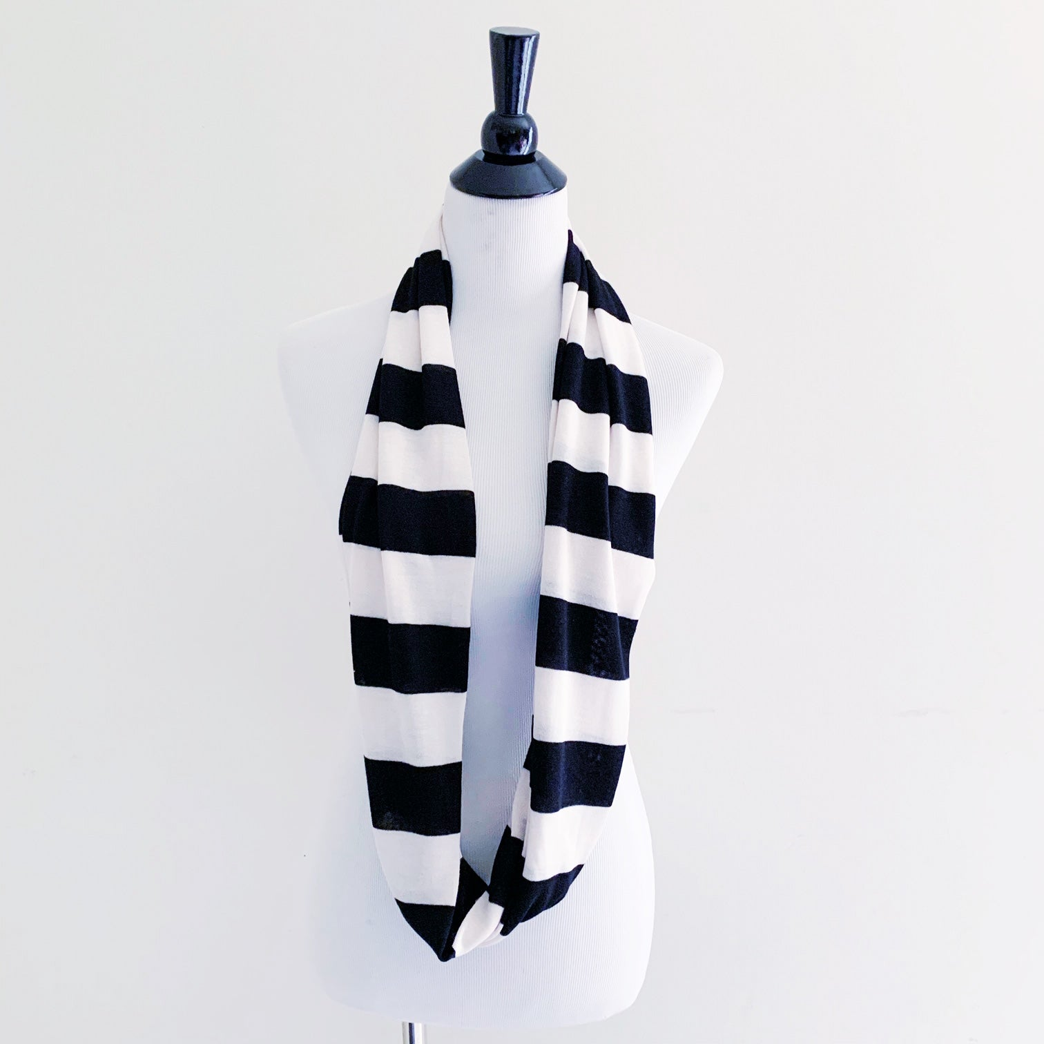 Infinity Scarf - Black + Cream