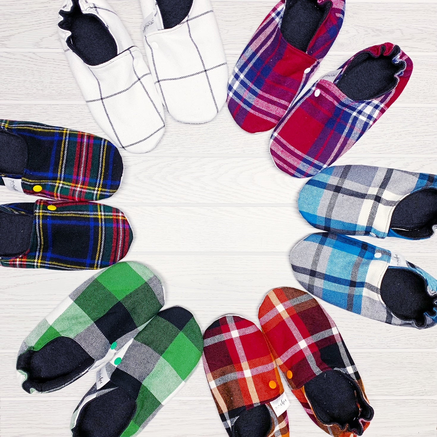 Blanket Scarf Slippers - SMALL