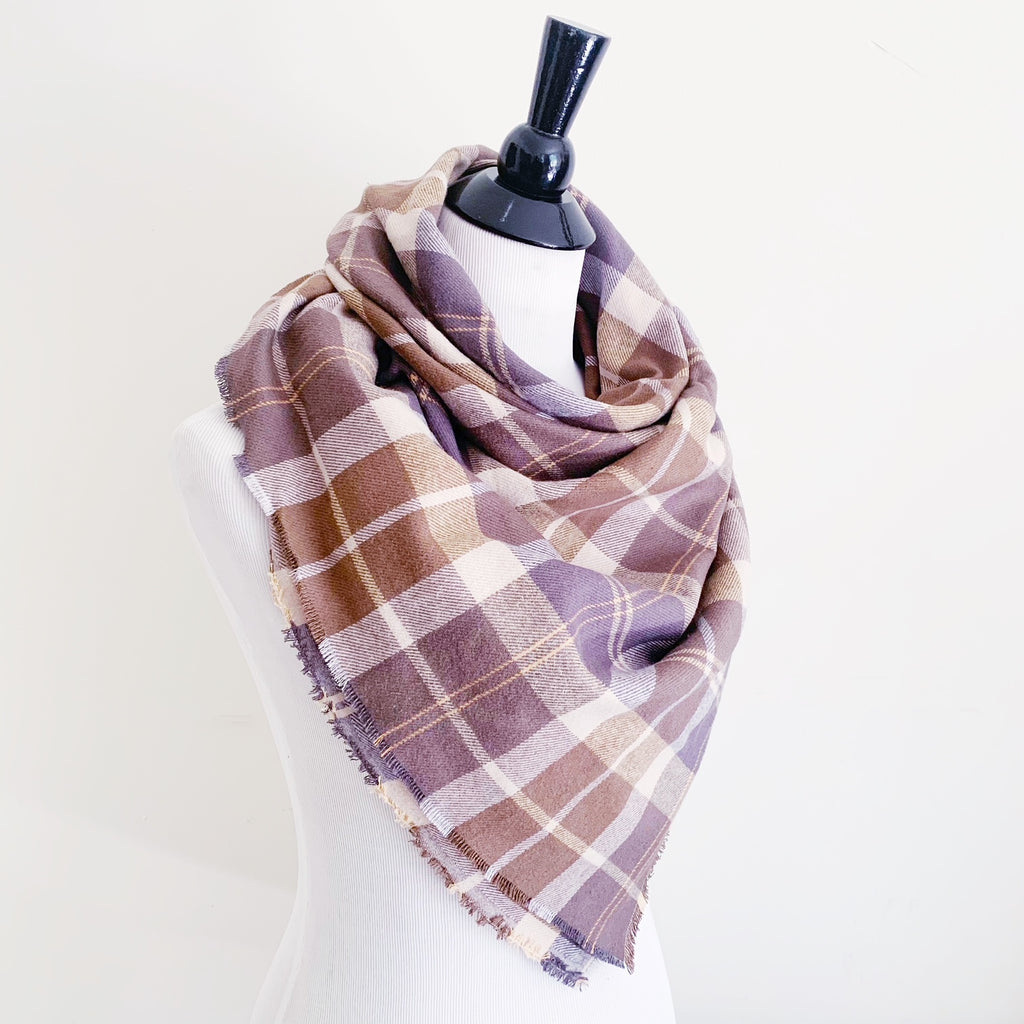 Blanket Scarf - Earth Tones