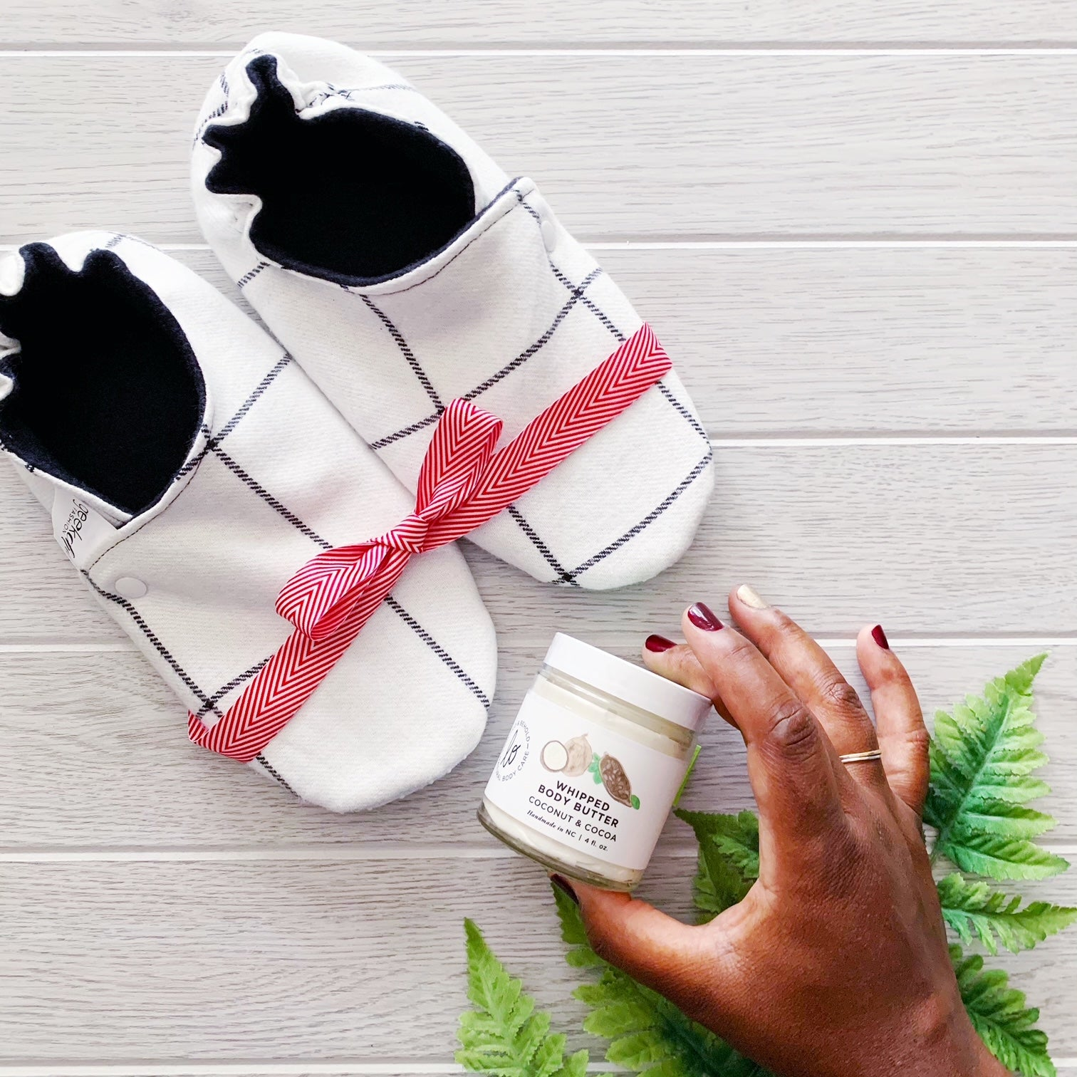 Slippers + Body Butter Gift Set