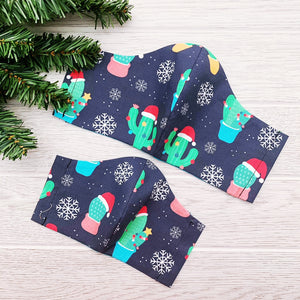 Kids Face Mask - Cactus Christmas