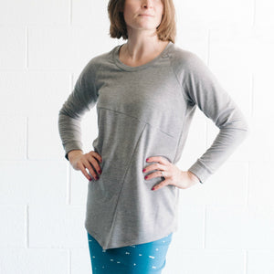 Fractured Geometric Sweatshirt - Gray