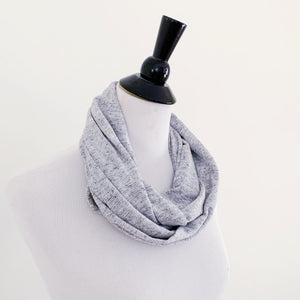 Infinity Scarf - Gray Texture Stripe