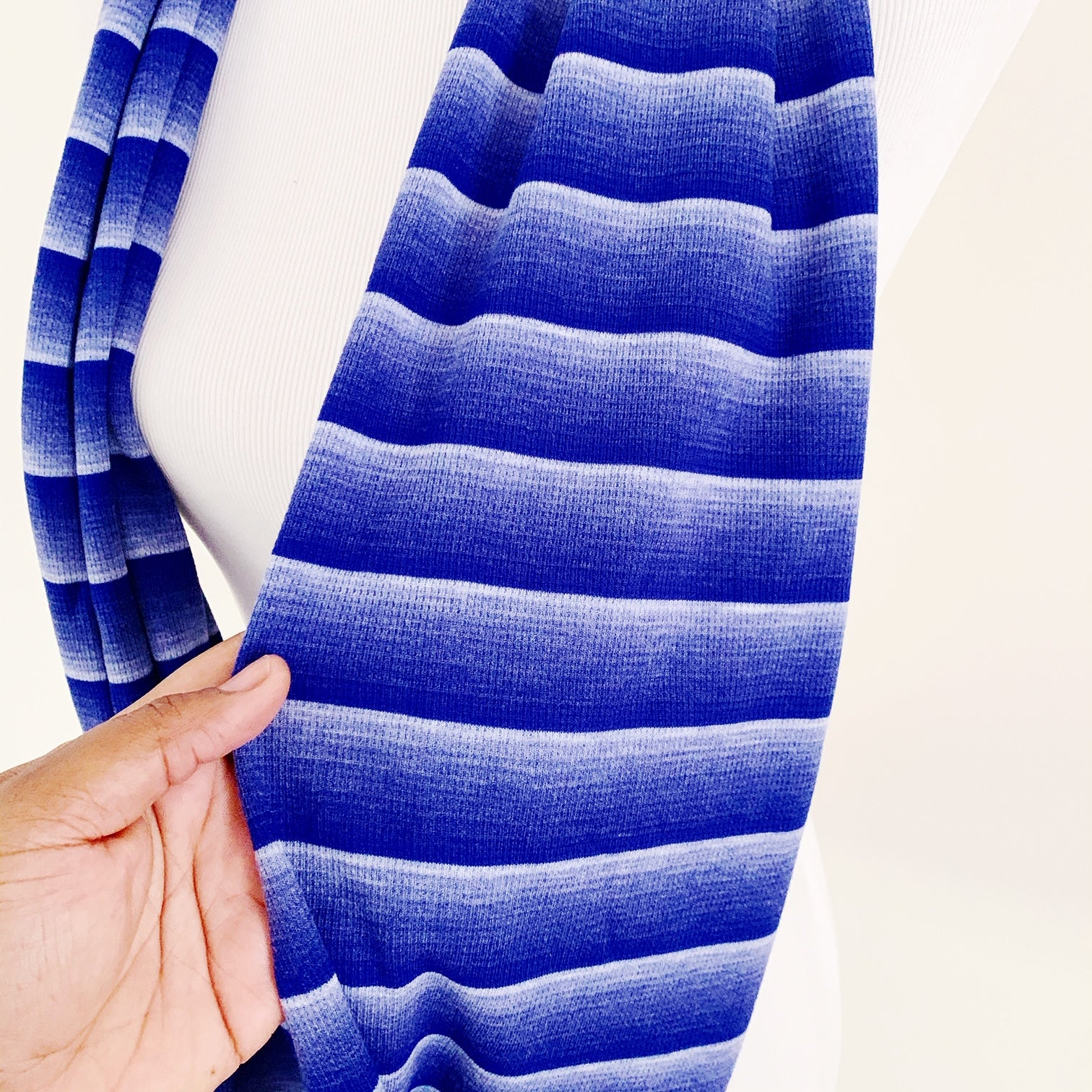 Infinity Scarf - Blue Ombre Stripe