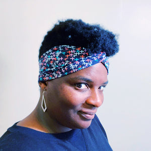 Twist Headband - Mint Dots