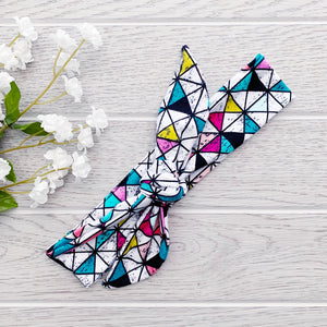 Top Knot Headband - Prism Print