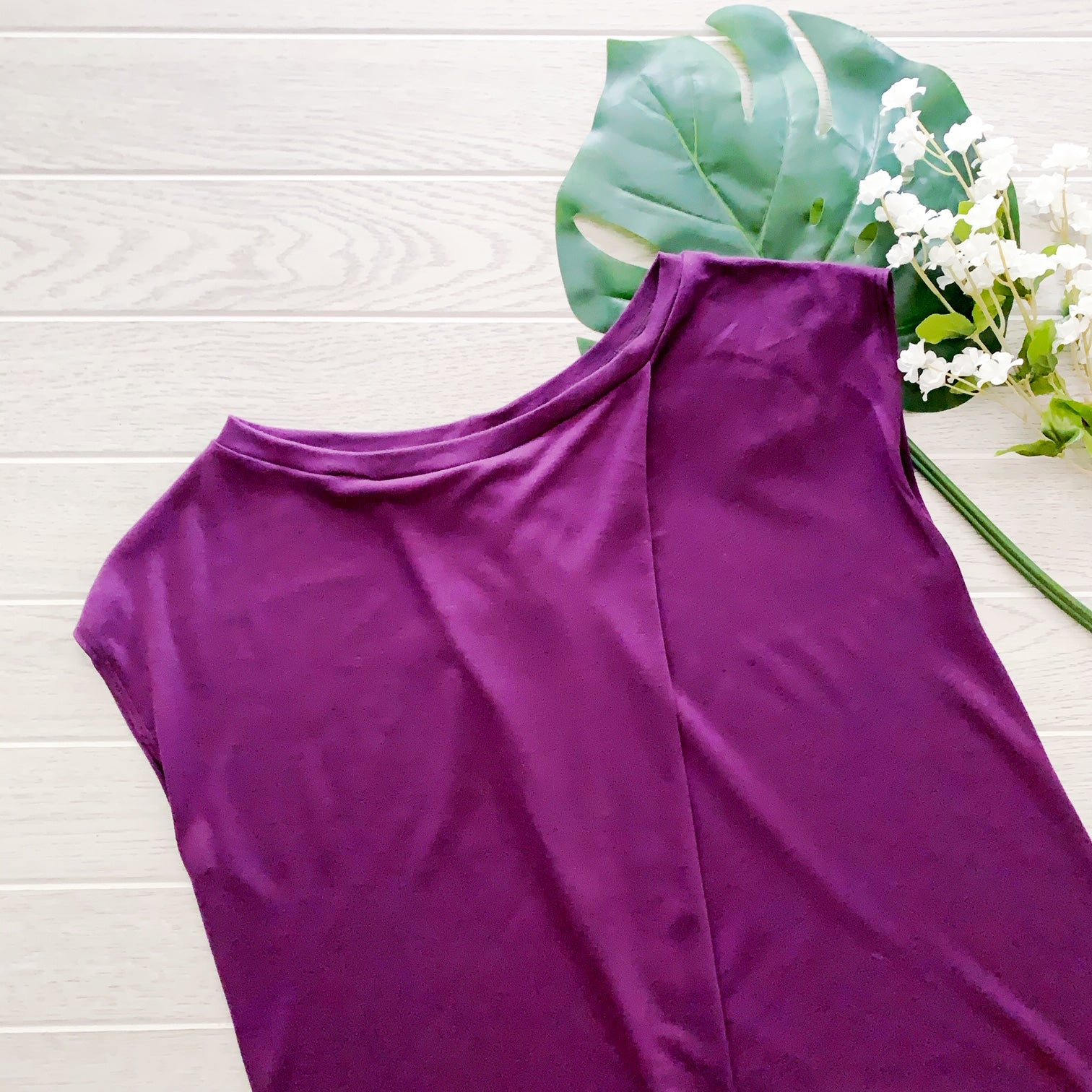 Single Tuck Drape Top - Plum