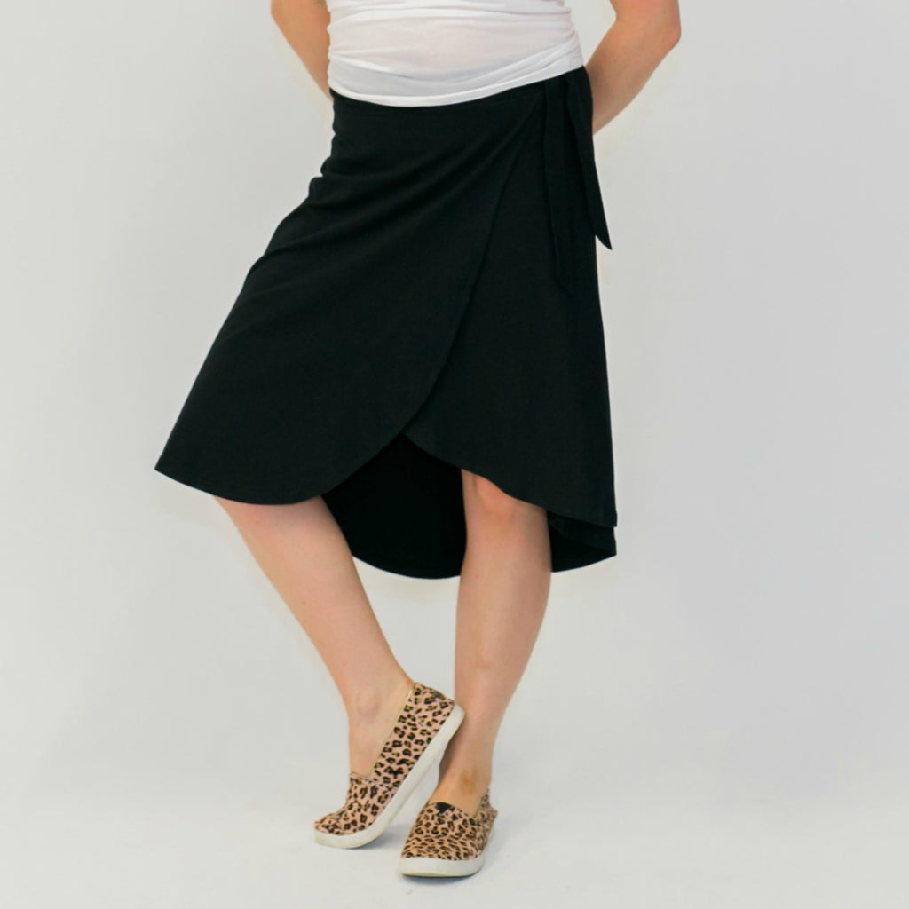 Ocean Waves Wrap Skirt