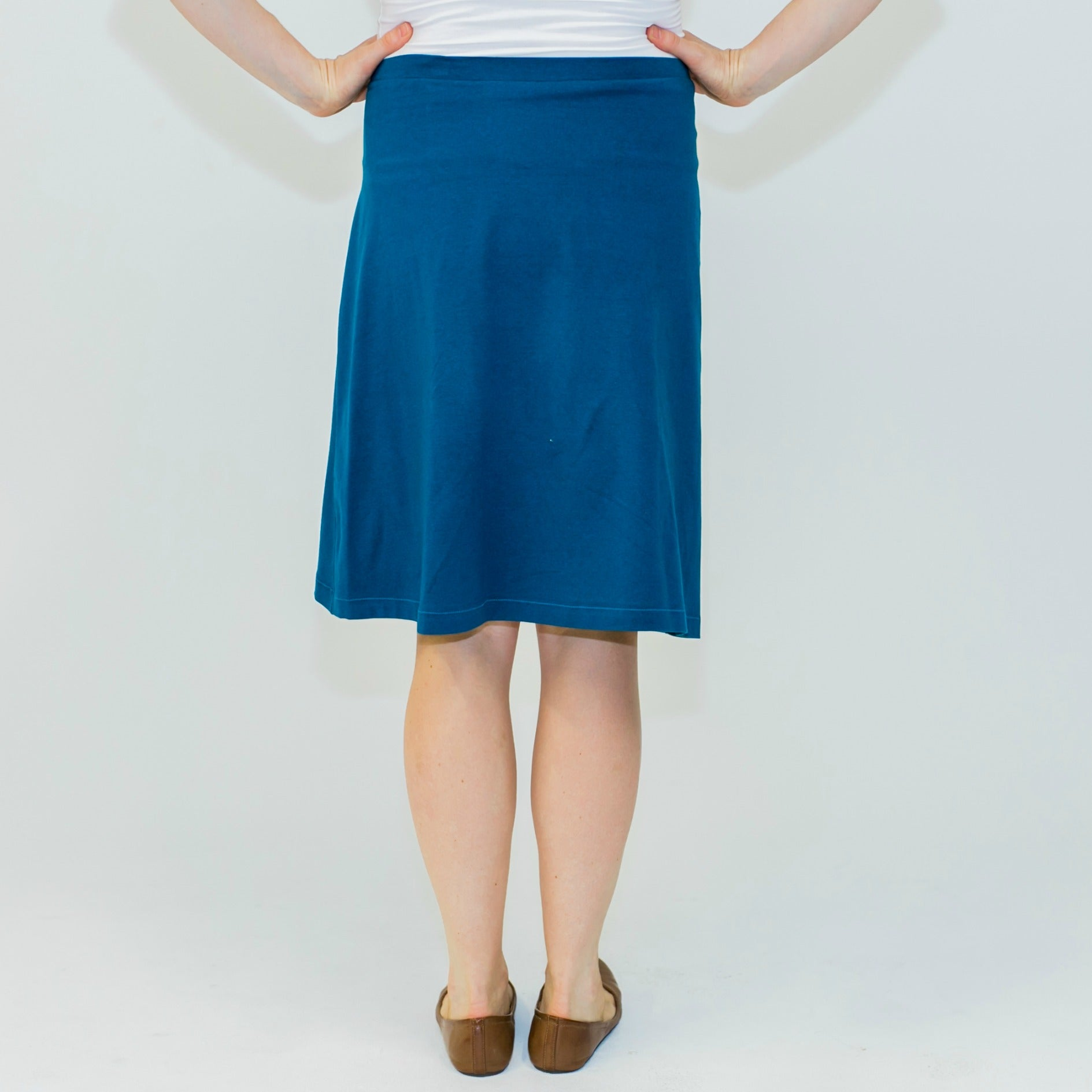 Triangle Swing Midi Skirt - Teal