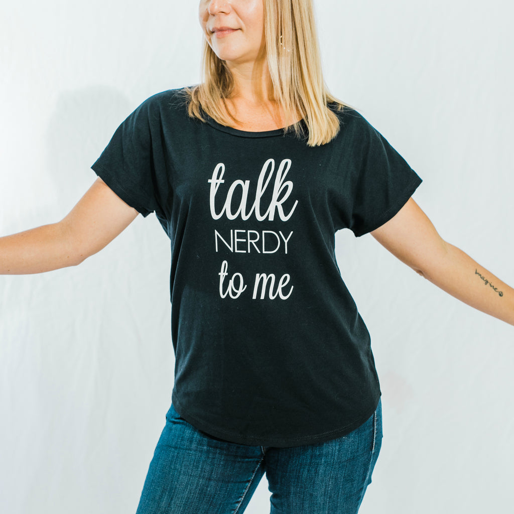 talk NERDY to me T-Shirt (Black)