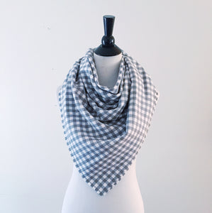 Blanket Scarf - Gray Gingham