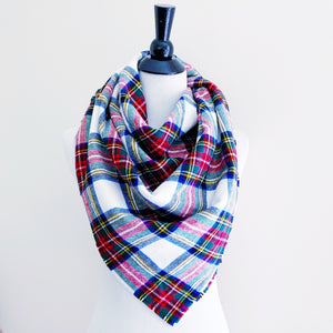 Blanket Scarf - Multi-Color Plaid