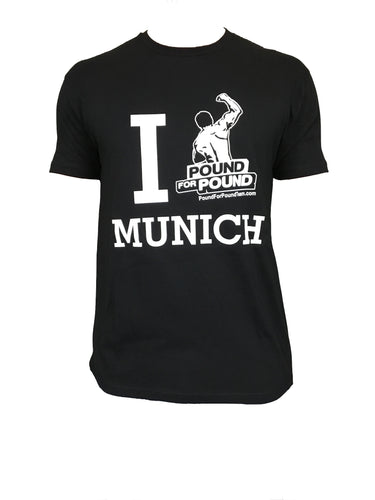 Pound for Pound BJJ T Shirt Team Logo MUNICH BLACK