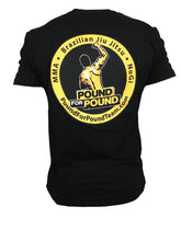 Pound for Pound BJJ T Shirt Team Logo P4P BLACK