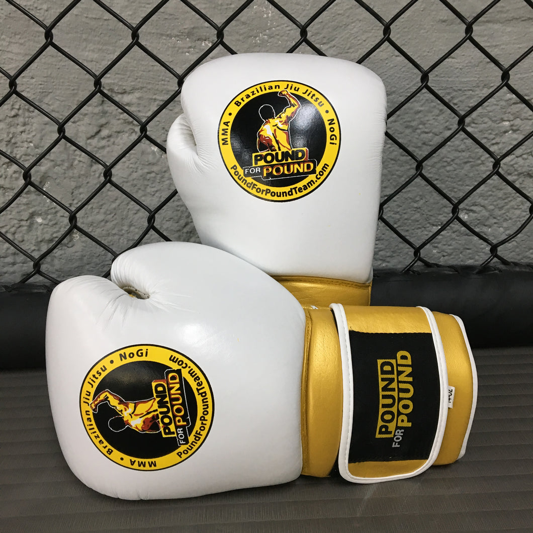 Pound for Pound Boxing Gloves White