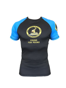 Pound for Pound BJJ Rashguard Short Sleeve BLUE