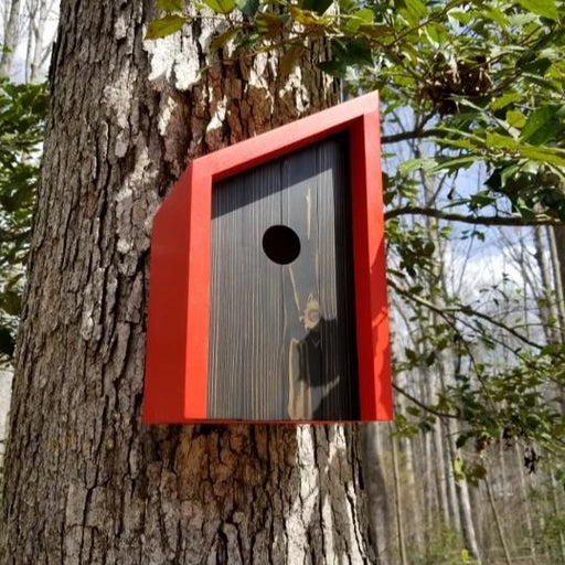 Minimalist Red Birdhouse