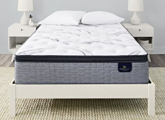 Serta Hybrid Blue Fusion 300 Plush Pillow Top Mattress