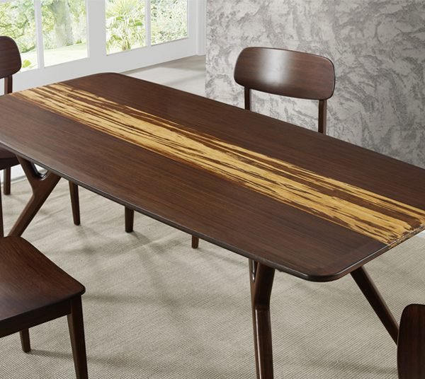 Azara Dining Table Sable With Exotic Tiger Miy Home