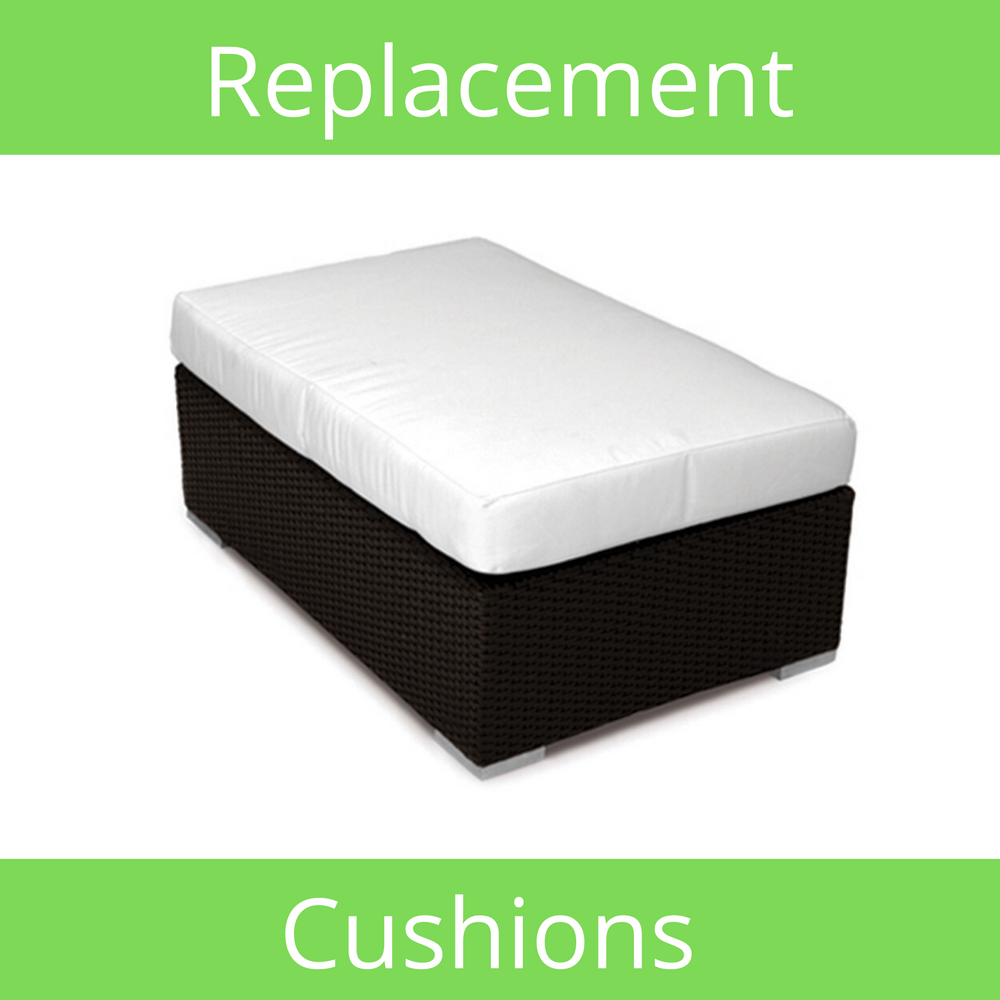 Rectangular Ottoman Sunbrella Replacement Cushion