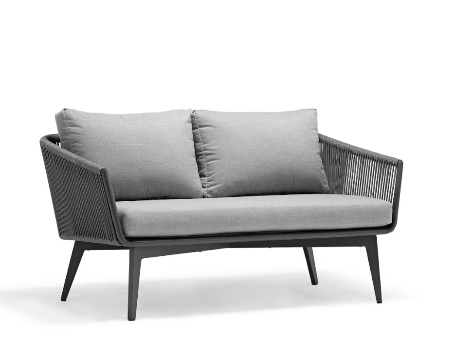 Diva Sofa Grey with Anthracite Rope