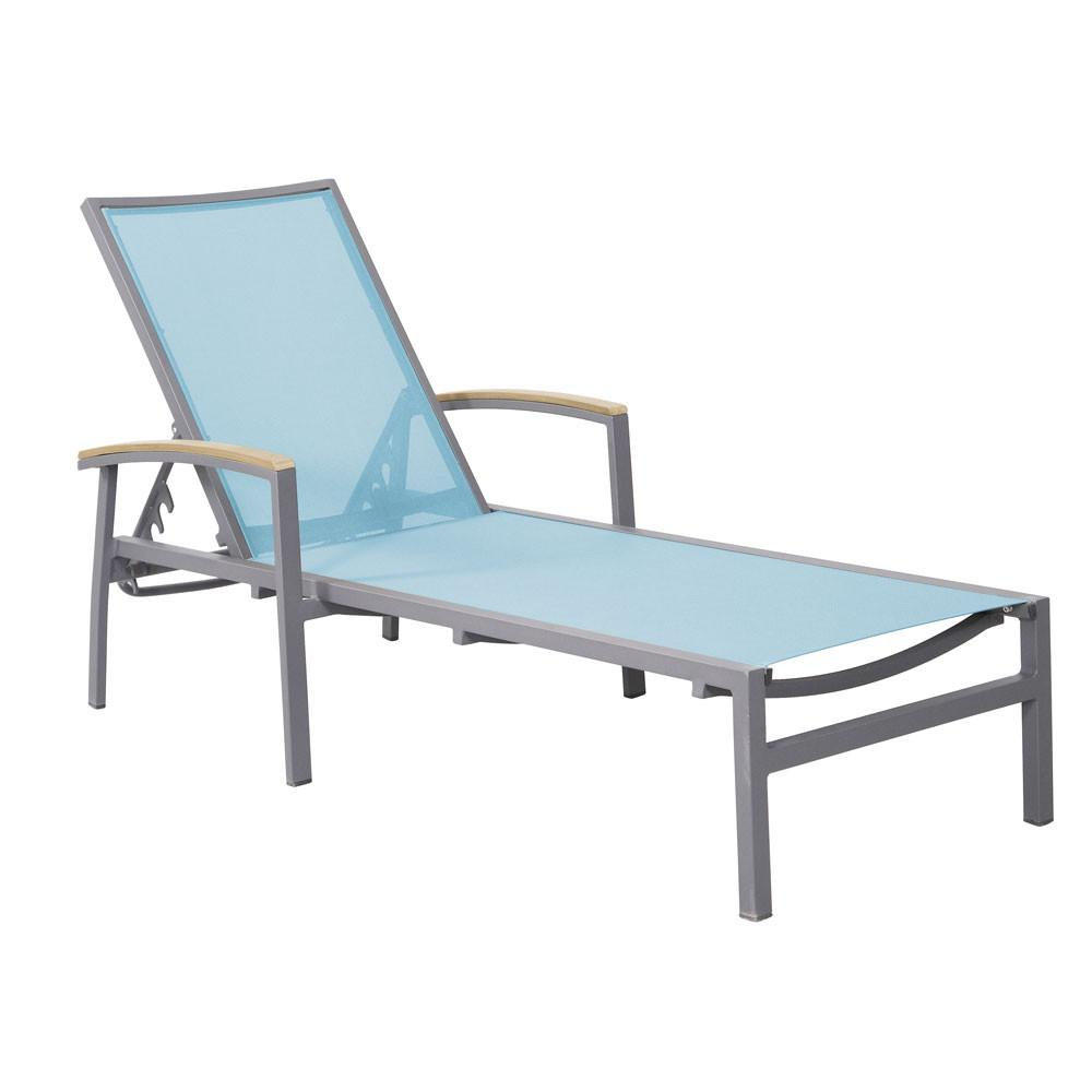 Saint Lucia Chaise Lounge with Arms