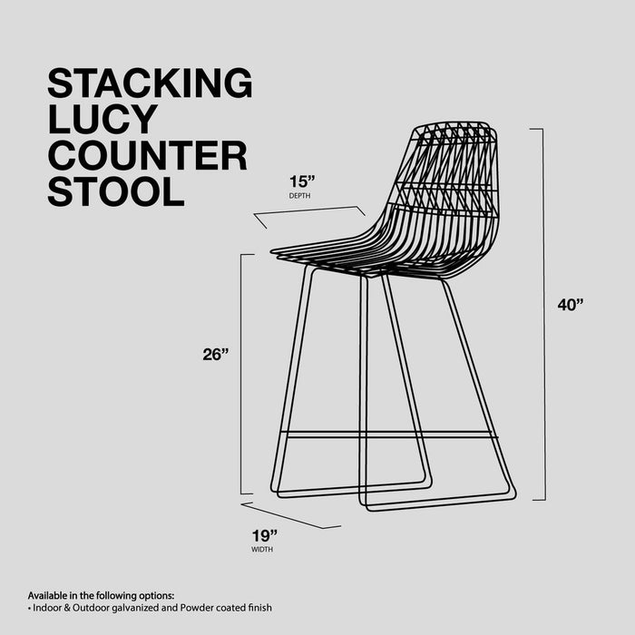 Lucy Counter Stool Stacking Stool