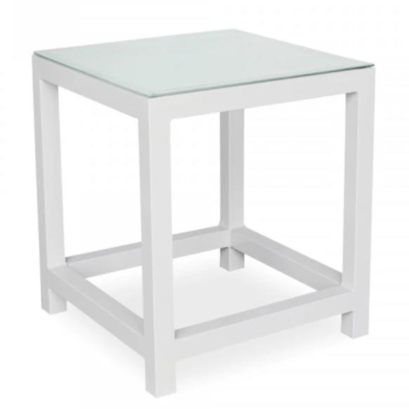 Toledo Side Table with Tempered Glass Top