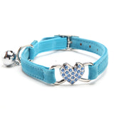 Heart Charm and Bell Cat Collar Safety Elastic Adjustable Neck Belt