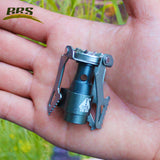 Portable Lightweight Titanium Metal Gas Stove For Outdoor Camping