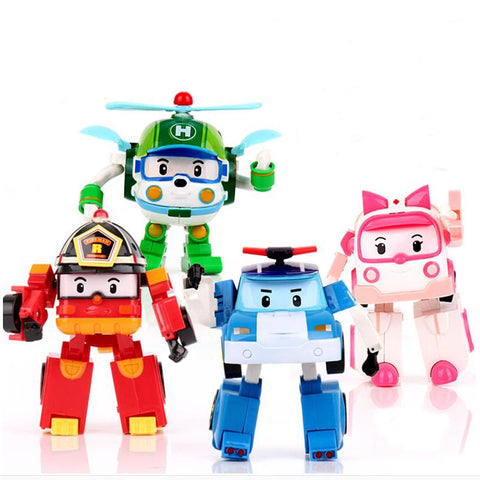 Korea Robot Transformer Toys For Kids - 4 Pcs Set